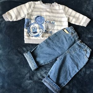 Other - Disney Sweater With CK Jeans
